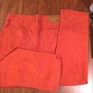Orange corduroy American Eagle pants. 32x32